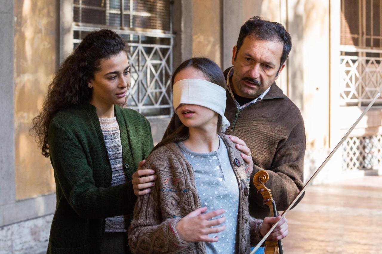 """Katia Greco, Francesco Procopio e Elisa Carletti in """"Rita Levi Montalcini"""""""