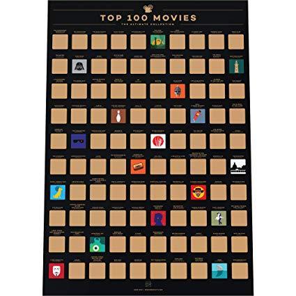 Movies Scratch off Bucket List Poster